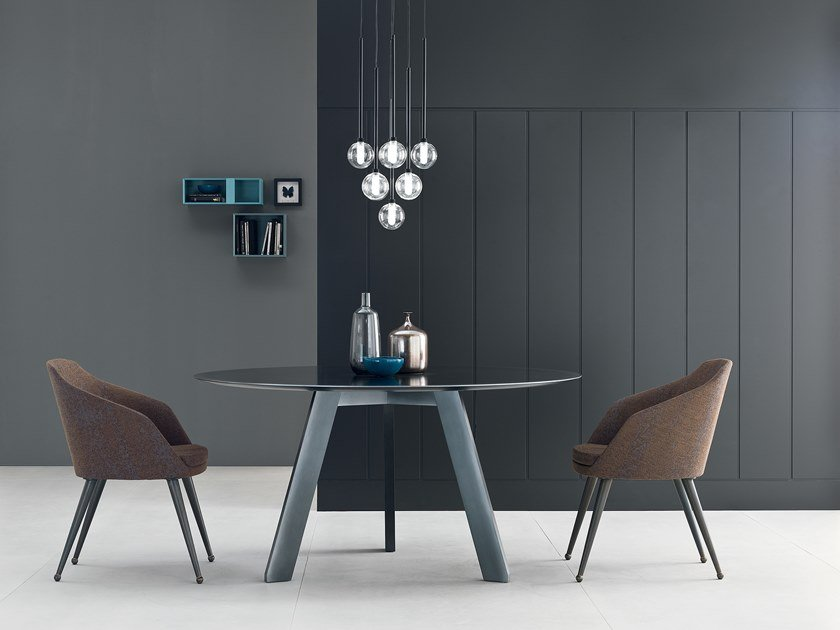 Round glass table HI-DECK by Capo d'Opera