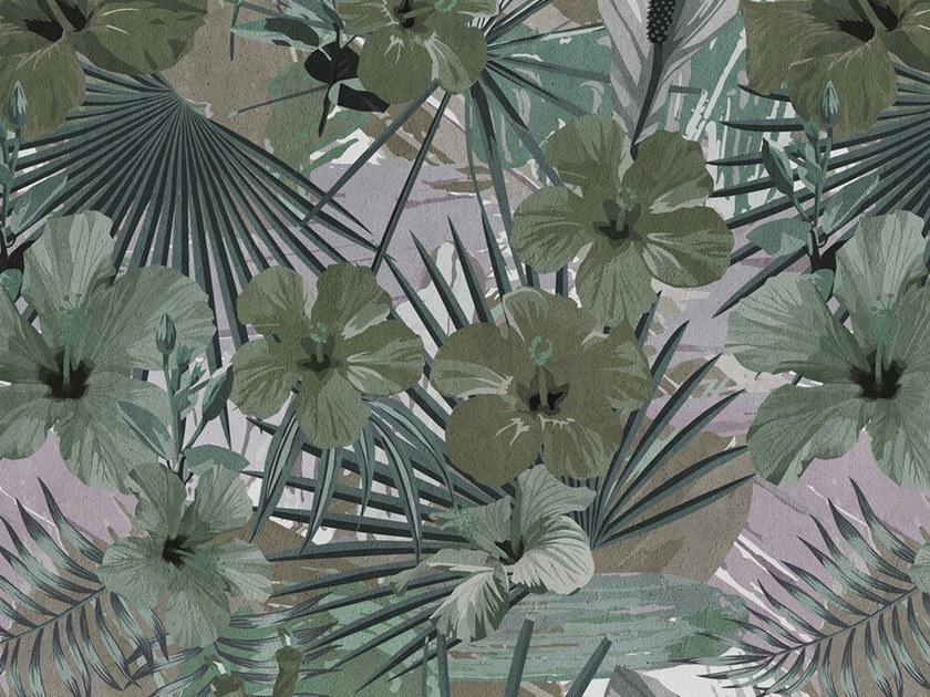 Digital printing Tropical wallpaper HIBISCUS by Architects Paper