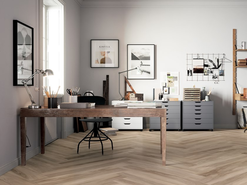 Porcelain stoneware flooring with wood effect HICKORY BLOND by CERAMICA FONDOVALLE