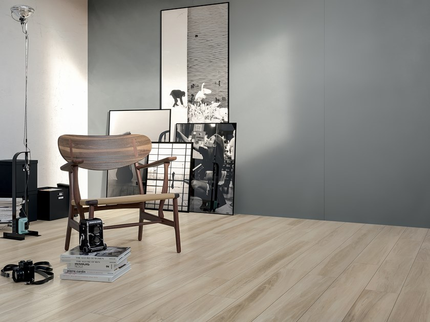 Porcelain stoneware flooring with wood effect HICKORY GRIZZLE by CERAMICA FONDOVALLE