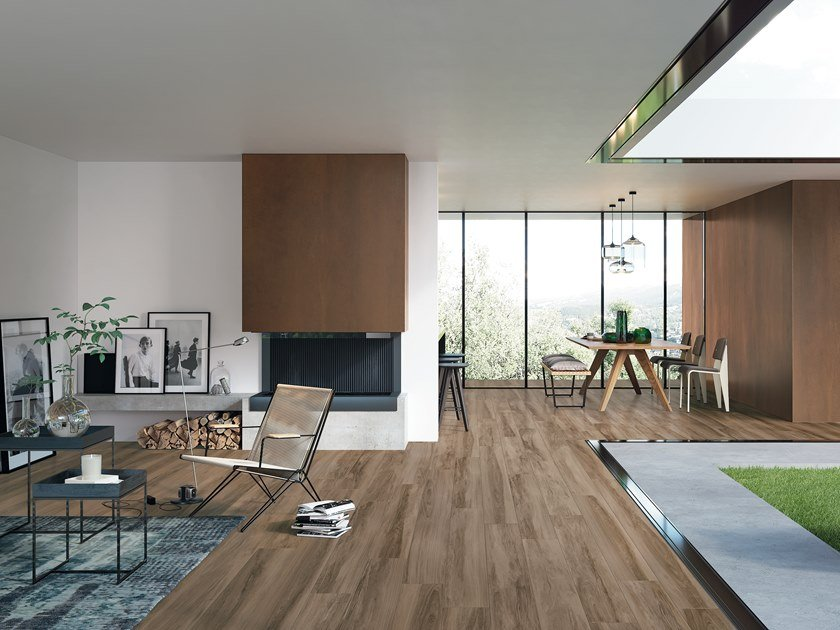 Porcelain stoneware flooring with wood effect HICKORY DUSKY by CERAMICA FONDOVALLE