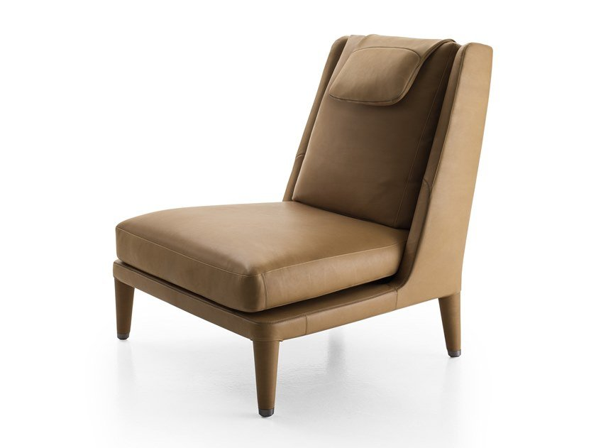 High-back leather armchair NIDUS | High-back armchair by Maxalto