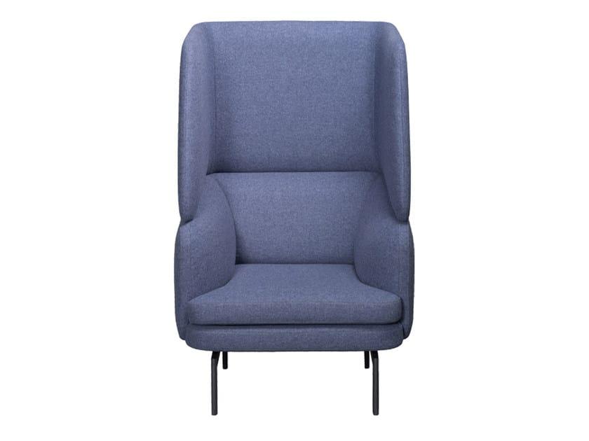 High-back fabric armchair GABO | High-back armchair by Palau