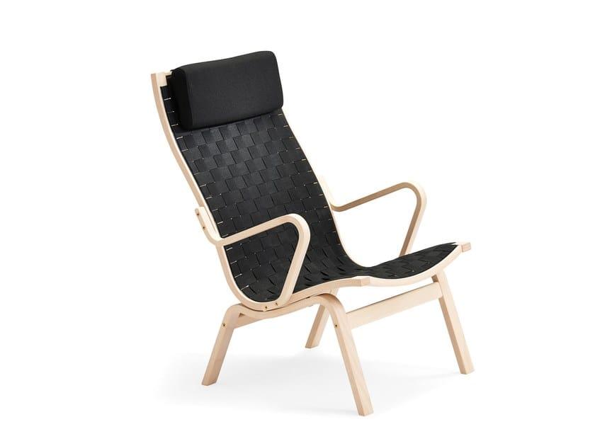 High-back fabric armchair ALBERT | High-back armchair by Stouby