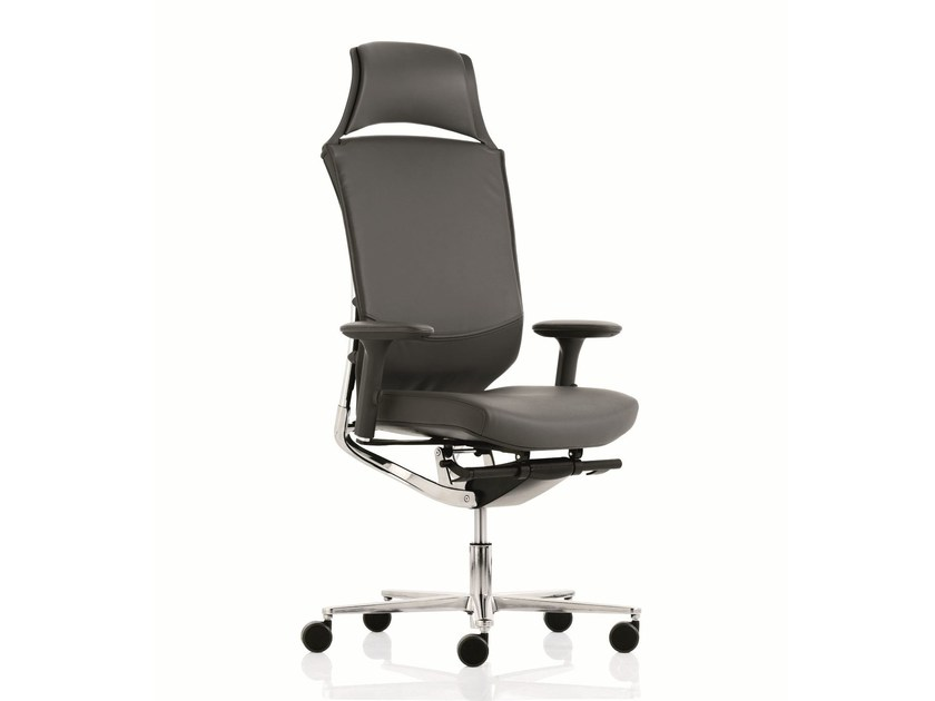 Executive chair with 5-spoke base with armrests MOOD | High-back executive chair by Emmegi