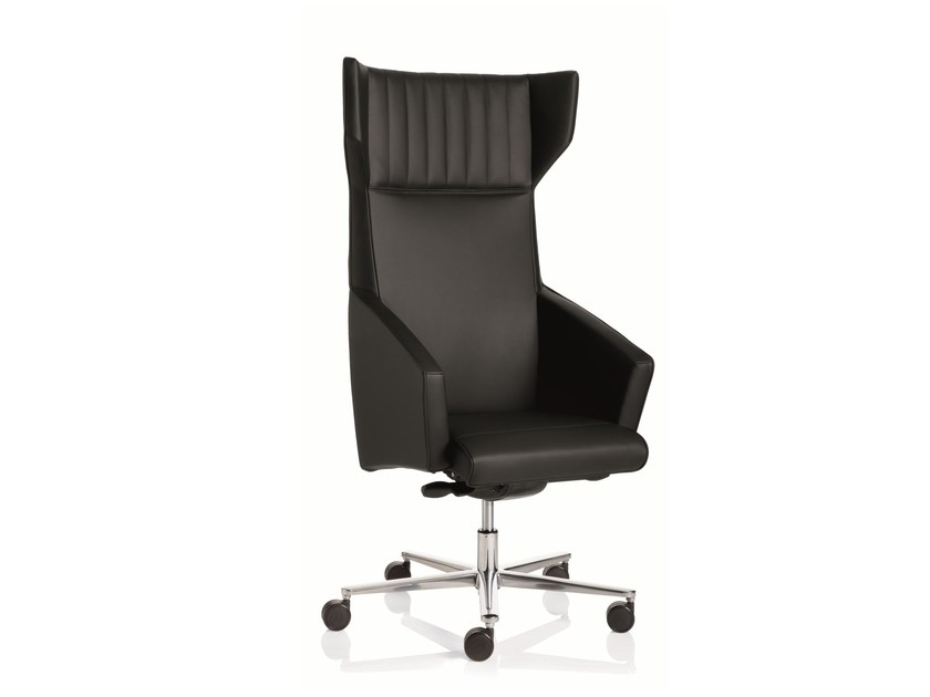 High-back executive chair with 5-spoke base with armrests BUSINESS CLASS | High-back executive chair by Emmegi