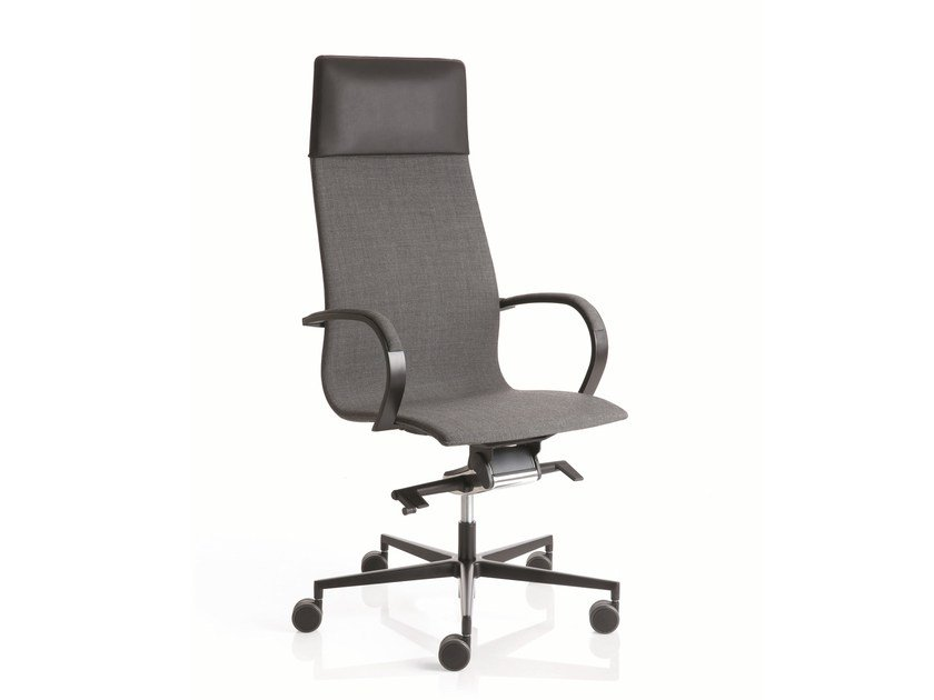Swivel high-back executive chair with 5-spoke base EM204 | High-back executive chair by Emmegi