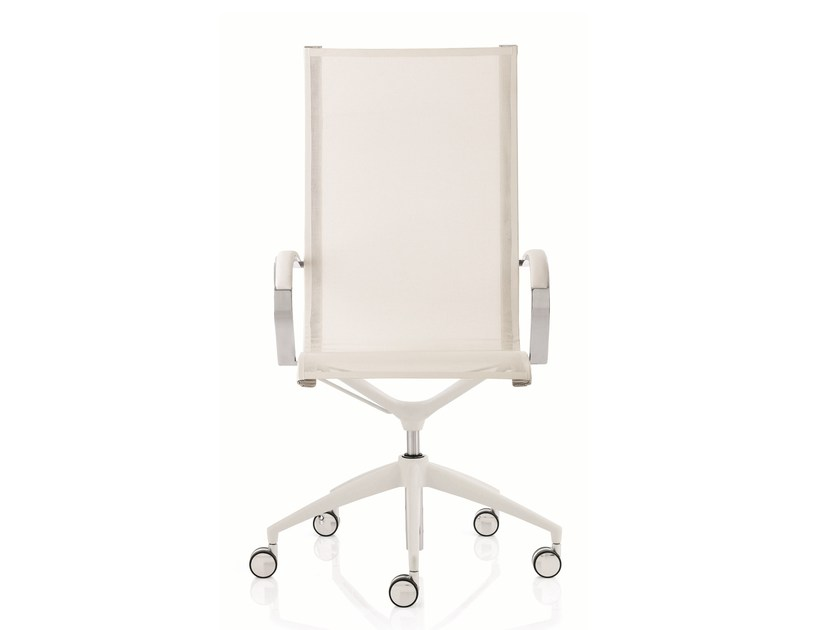 High-back executive chair with 5-spoke base with armrests EM202 MESH | High-back executive chair by Emmegi