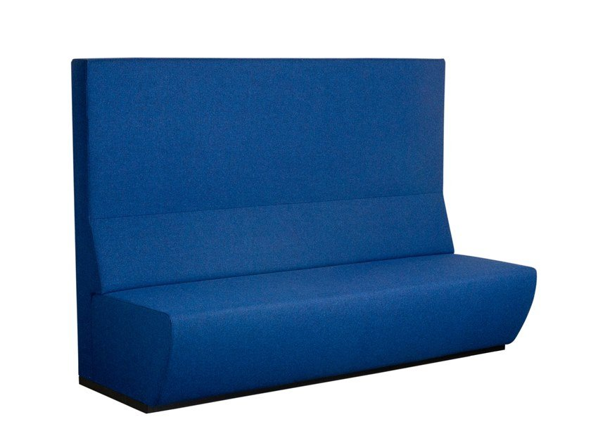 Anbausofa aus Stoff mit hoher Rückenlehne TRAIN BENCH | Sofa mit hoher Rückenlehne by Casala