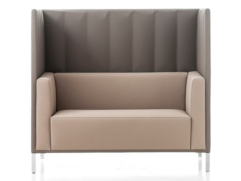 2 seater high-back sofa KONTEX | High-back sofa by Kastel