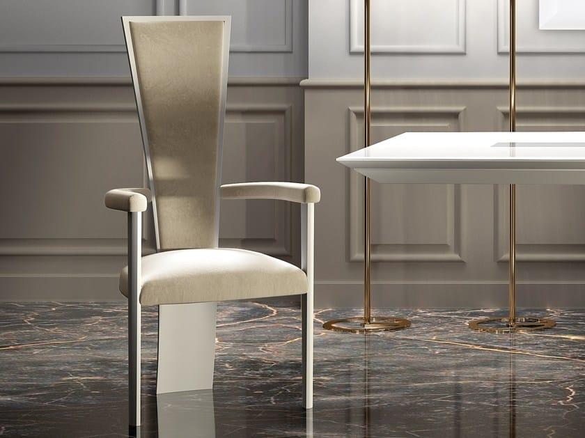 Sedia in pelle con braccioli con schienale alto high chair sedia
