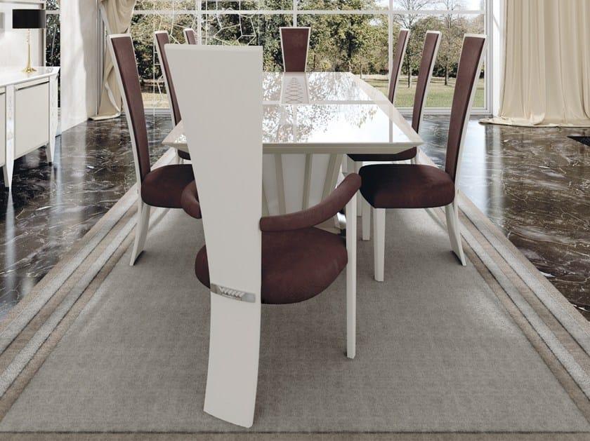 Design Alto Con Vismara Pelle Schienale ChairSedia Braccioli In High SpGzMVqU