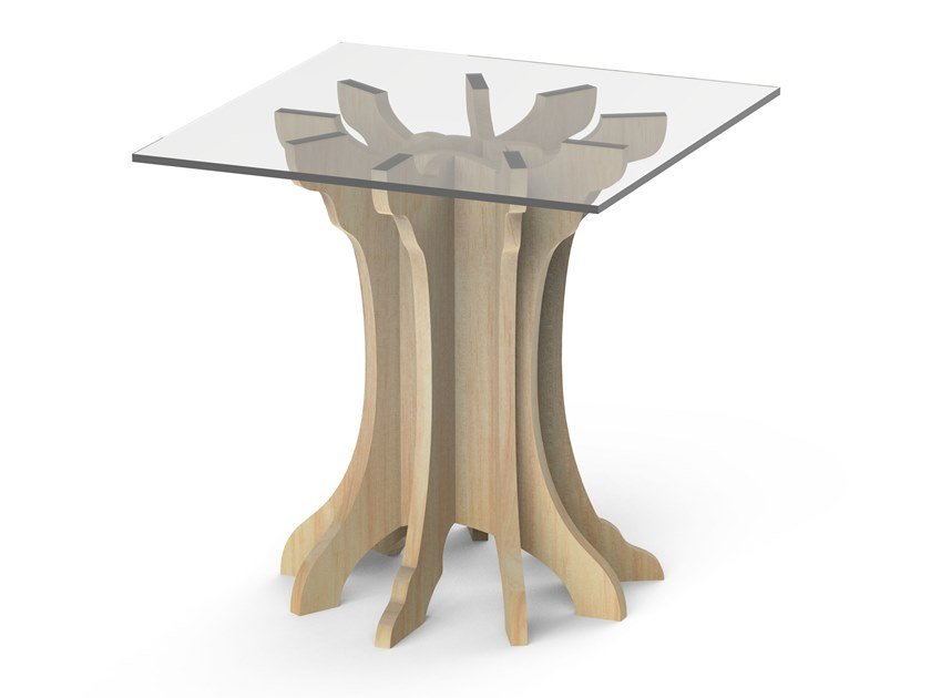 Square birch high side table TALE | High side table by ALBEDO