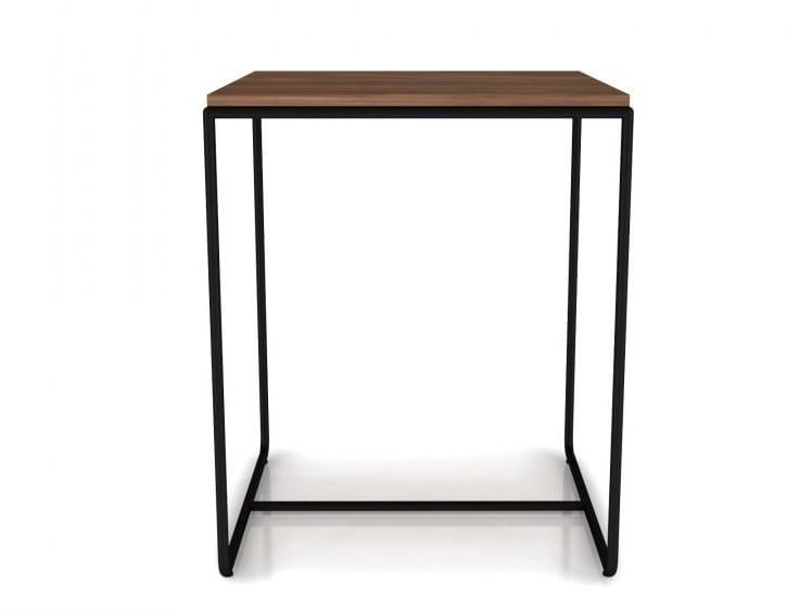 Rectangular walnut high side table LINEA | High side table by Huppé