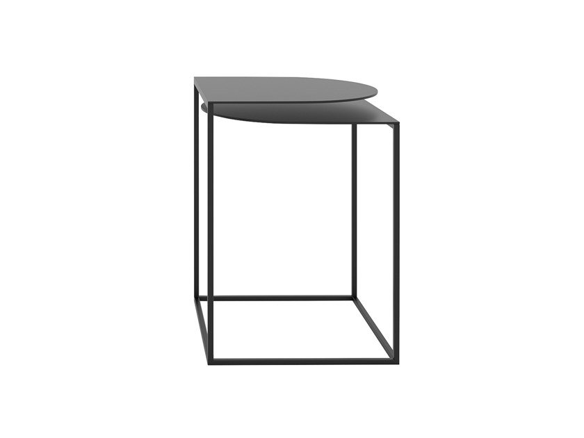 Powder coated steel high side table with integrated magazine rack GAP | High side table by take me HOME