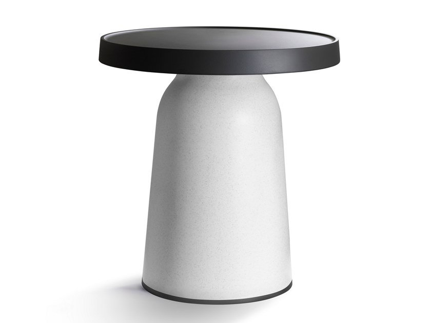 Round high side table THICK TOP | Side table by TOOU