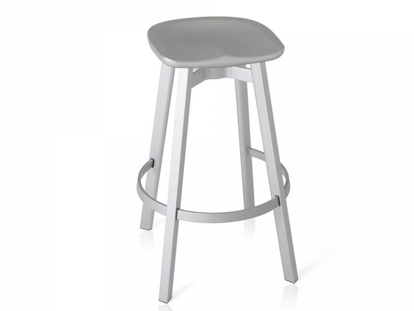 High stool with footrest SU | High stool by Emeco
