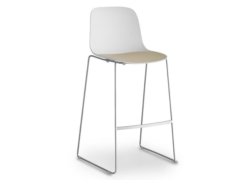 High stackable polypropylene stool SEELA | High stool by Lapalma