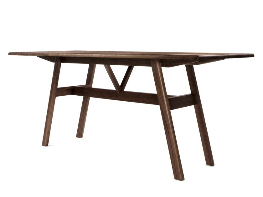 Rectangular solid wood high table KANT | High table by BassamFellows