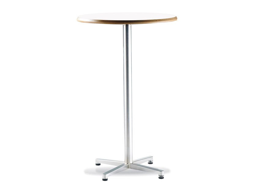 Round high table with 4-star base TWIN | High table by Casala