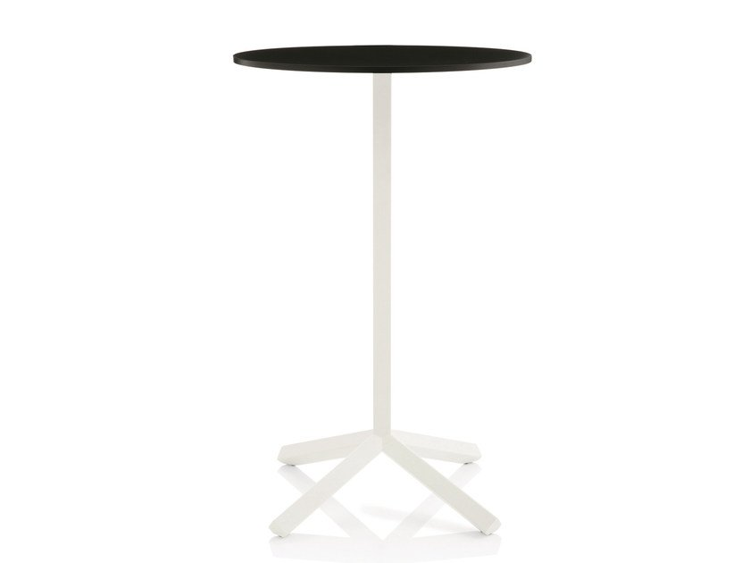 Round Mdf High Table Flamingo By Emmegi