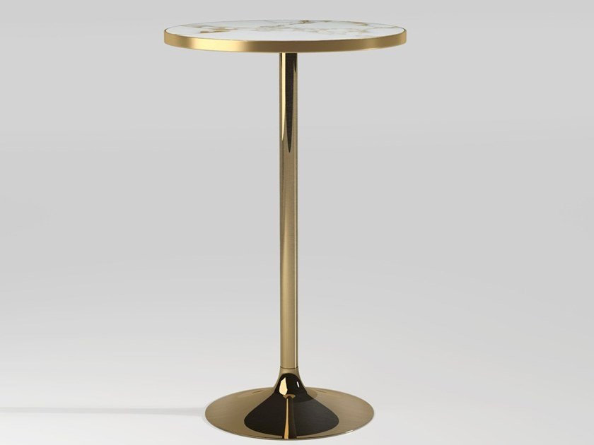Round Carrara marble high table CHICAGO | High table by Emotional Projects