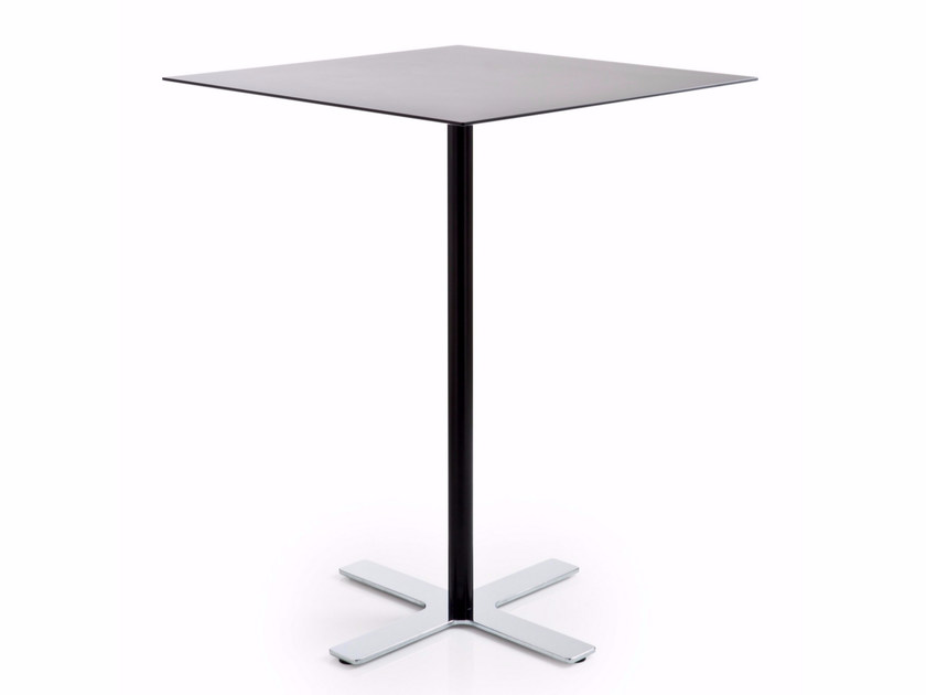 Square HPL high table with 4-star base INCROCIO | High table by Luxy