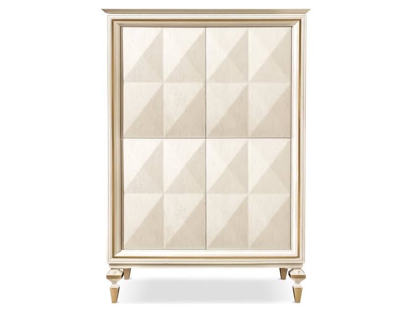 Wooden highboard with doors DIAMANTE | Highboard by Cantori