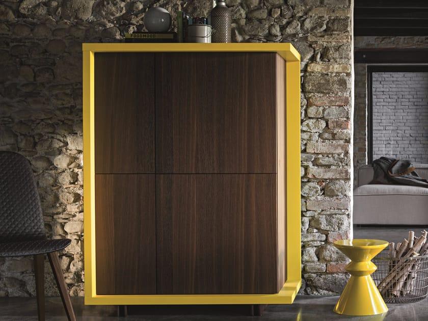 Oak highboard with doors FRAME   Highboard by Dall'Agnese