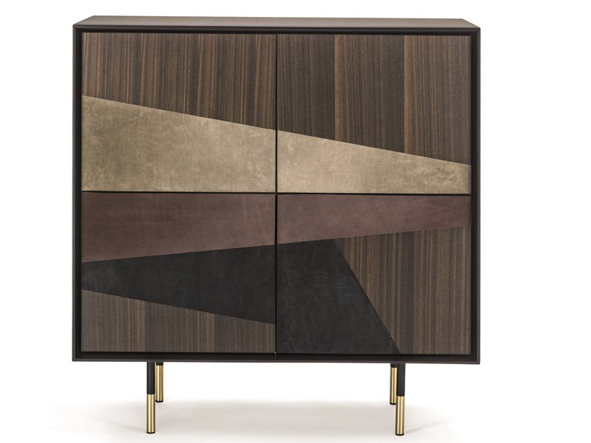 Wooden highboard with doors NORMAN | Highboard by Frigerio Salotti