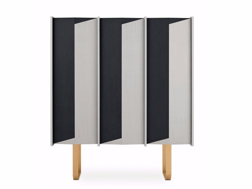 Wooden highboard with doors DIEDRO | Highboard by Gallotti&Radice