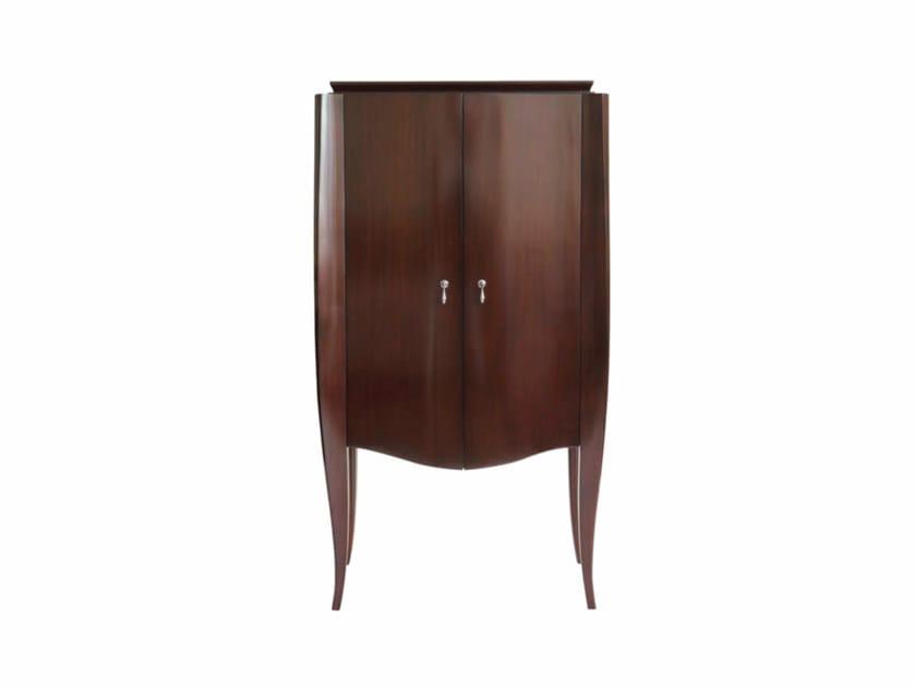 Floorstanding wooden bathroom cabinet with doors HERALD | Bathroom cabinet with doors by GENTRY HOME