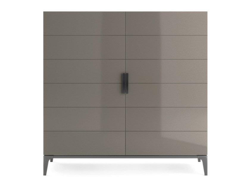 Lacquered wooden highboard with doors PAVANNE | Highboard by PRADDY