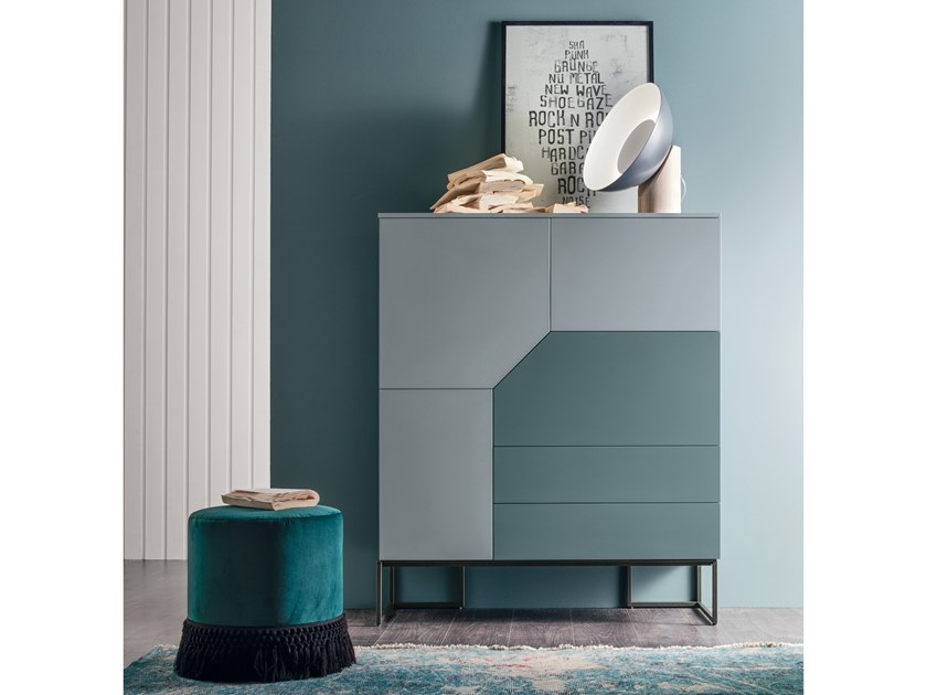Lacquered highboard with flap doors REMIX | Highboard by Gruppo Tomasella