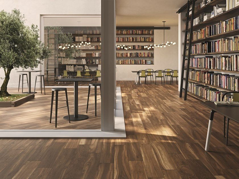 Indoor/outdoor wall/floor tiles with wood effect HIKE LUMBER by Ceramiche Caesar