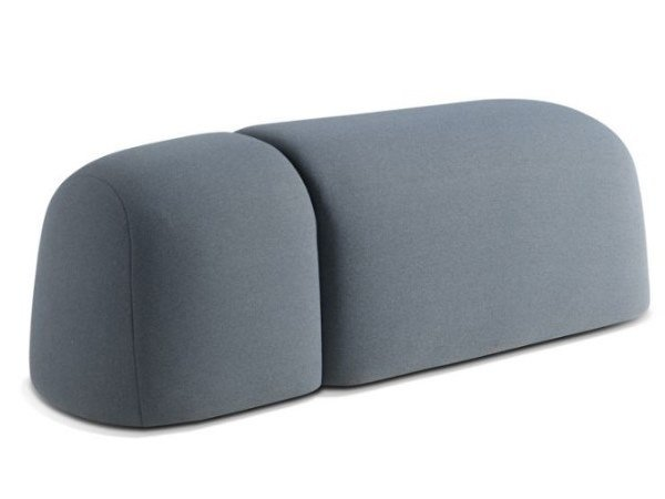 Fabric pouf with castors HIPPO by ROCHE BOBOIS