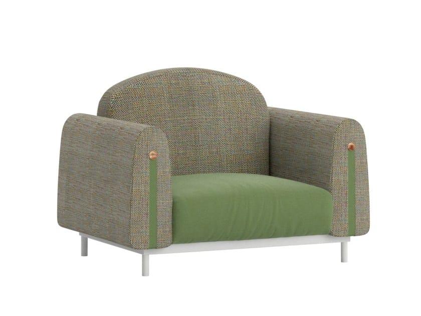 Technical fabric garden armchair with armrests HIPSTER | Garden armchair by Atmosphera