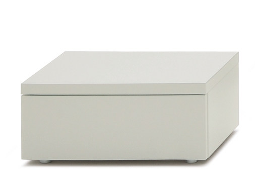 Wooden bedside table with drawers HIRO | Rectangular bedside table by Silenia