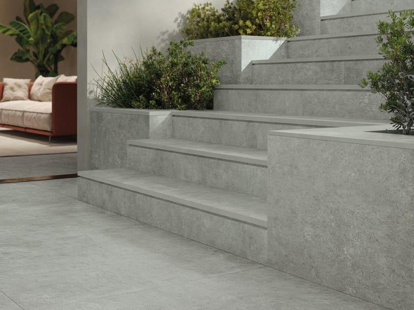 Pavimento/rivestimento in gres porcellanato effetto pietra per interni ed esterni HISTORICA NAUTILUS by Marca Corona