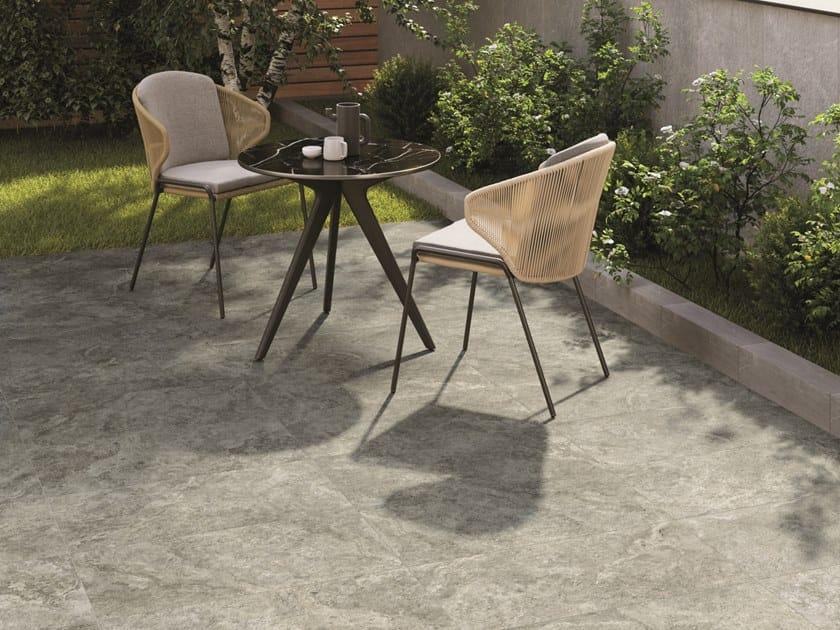 Pavimento/rivestimento in gres porcellanato effetto pietra per interni ed esterni HISTORICA PANTHEON by Marca Corona