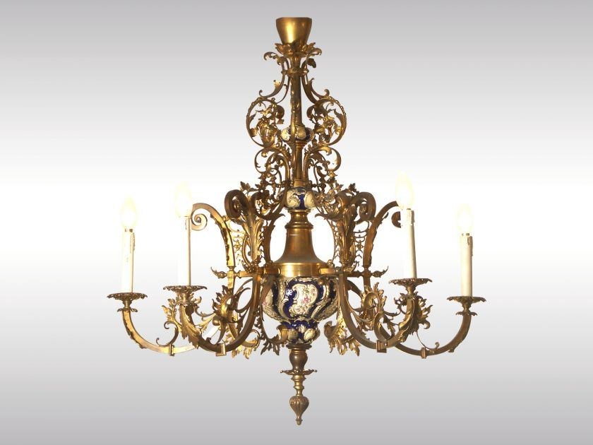 Classic style chandelier HISTORISMUSLUSTER by Woka Lamps Vienna