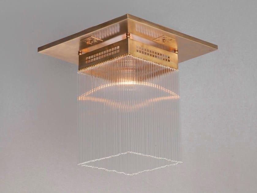 Direct light handmade brass ceiling lamp HOFFMANN I | Ceiling lamp by Patinas Lighting