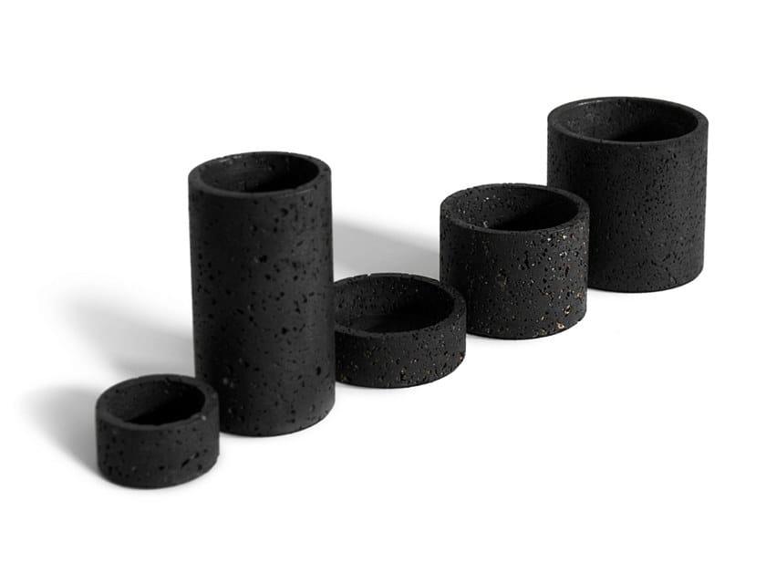 Lava stone vase / storage box HOLD | Vase by BUZAO
