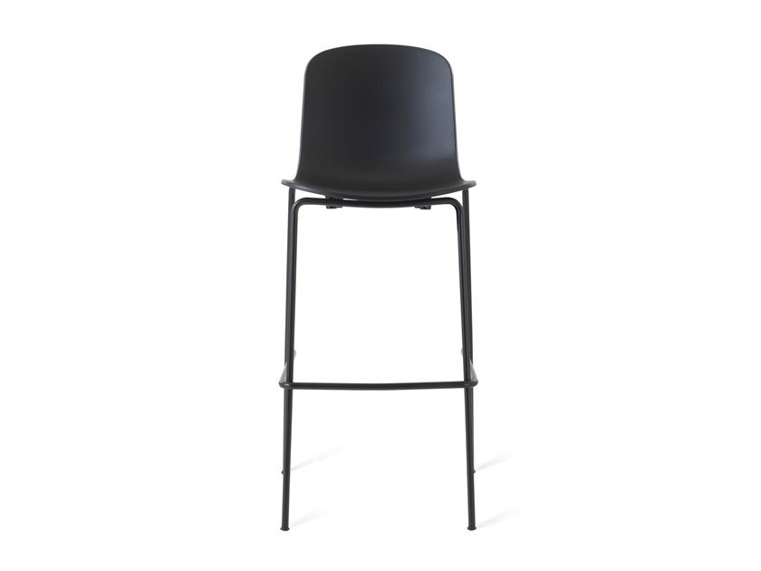 Barstool with footrest HOLI - HIGH CLOSED | Barstool by TOOU