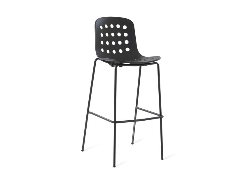 Barstool with footrest HOLI - HIGH OPEN | Barstool by TOOU