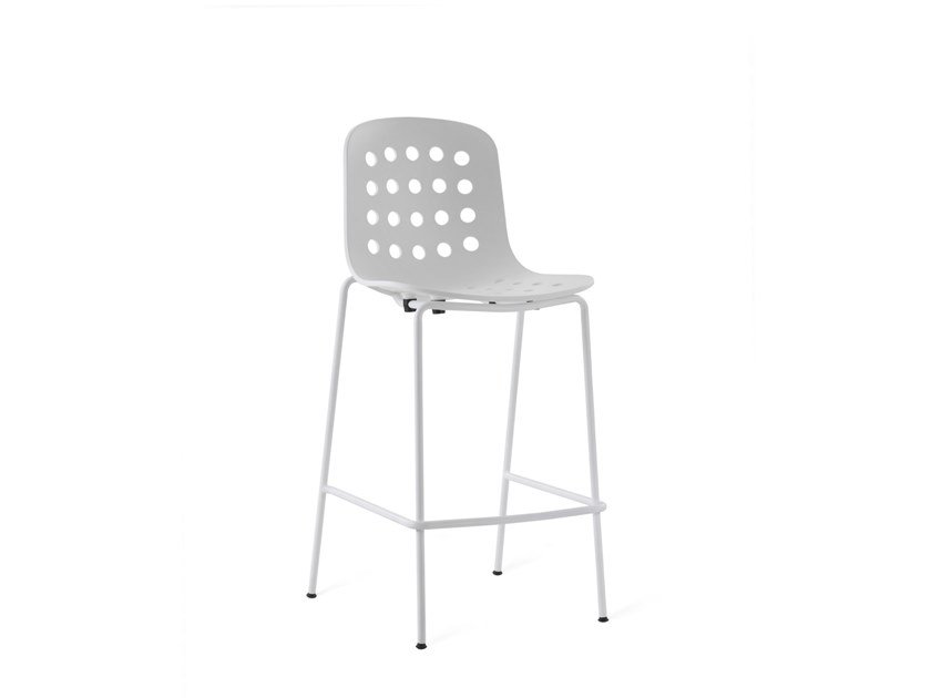 Barstool with footrest HOLI - LOW OPEN | Barstool by TOOU