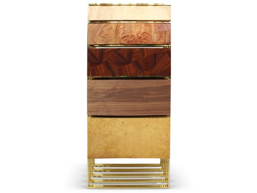 Wood veneer chest of drawers HOLLOW | Chest of drawers by Malabar