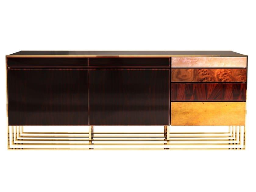 Wood veneer sideboard with doors HOLLOW | Sideboard by Malabar