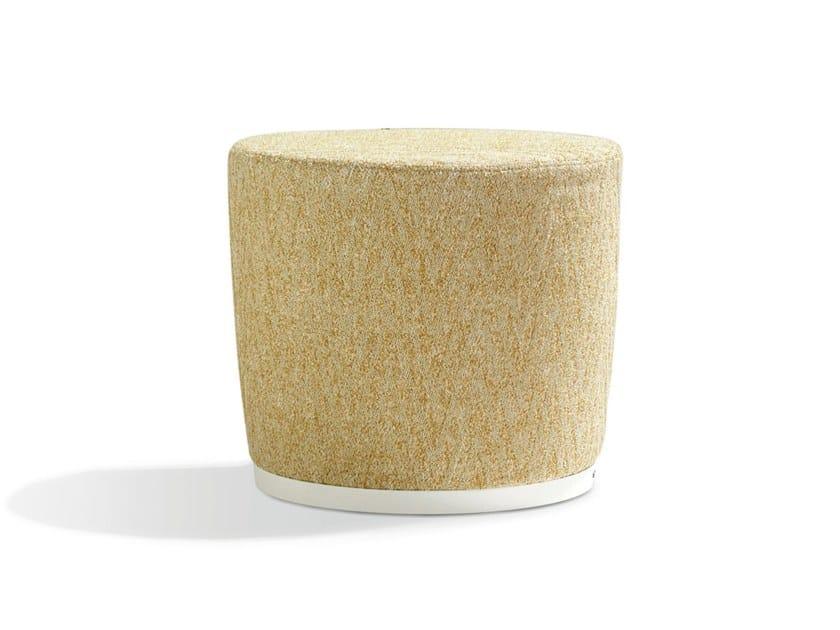 Pouf imbottito rotondo sfoderabile in tessuto GEMMA by MissoniHome