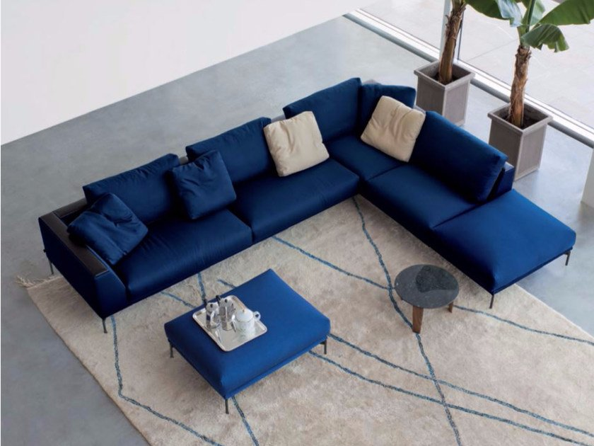Corner upholstered fabric sofa HOLLY WOOD | Corner sofa by arflex
